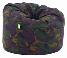 Large Adult Size Army Camo Camouflage Bean Bag With Beans By Bean Lazy