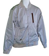 NEW NIKE SPORTSWEAR NSW Mens Varsity Bomber Jacket Light Grey M