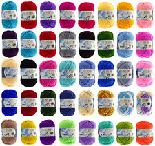 Crafts Double Crochet Knitting Yarn Acrylic Soft Wool Milk fiber cotton 50g Ball