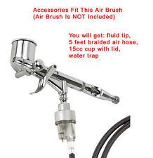 Air Brush Accessories for STEELMAN 99165-05K: Hose, Cup, Fluid Trap, Fluid Tip