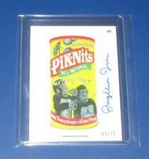 2015 WACKY PACKAGES SERIES 1 ANS13 ARTIST AUTO #69 PIK-NITS #09/15   NM/MT
