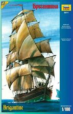 ZVEZDA 9011 ENGLISH SAILING SHIP BRIGANTINE SCALE MODEL KIT 1/100 NEW