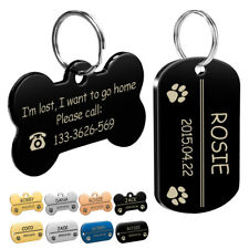 Custom Dog Tags Military Bone Shape Stainless Steel Army Pet Puppy ID Name Tags