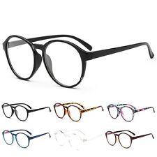 New Vintage Round Eyeglass Frame Glasses Retro Spectacles Clear Lens Eyewear UK
