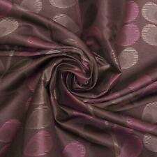 Double Sided Floral Jacquard Satin Feel Curtain Furnishing Fabric - 20 Metres