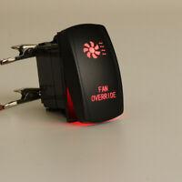 12V 20A 5 Pin Laser Rocker Switch RED LED FAN OVERRIDE For ATV UTV Car Auto