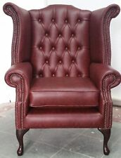 faux leather wingback armchairs for sale ebay rh ebay co uk