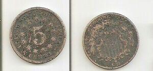 USA   Shield Nickel  5 cents 1872