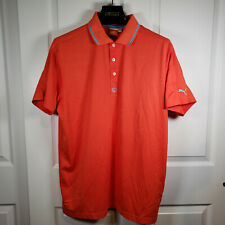 Puma Cell Golf Polo Shirt Mens Large Orange 563492 Euc