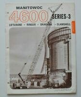 MANITOWOC 4600W Series-3 Lift Crane 1971 dealer brochure catalog - English - USA