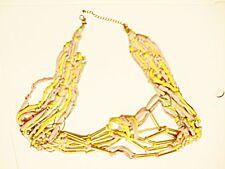 * Vintage Type 70 S ceinture ou collier 28 in (environ 71.12 cm) taille Hippy Boho Chiffon & Métal Pastel