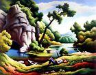 Thomas Hart Benton Cave Spring Canvas Print 16 x 20    # 6195
