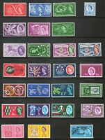 GB Stamps QEII Commemorative s 1957-1970 complete 61 Sets/195 stamps MNH VF