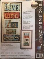 "Dimensions ""In The Moment"" Counted Cross Stitch Kit #70-35282 New"