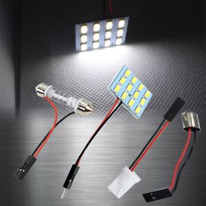 1x 6K White 12 LED Lamp Dome Roof Light Panel T10 Festoon BA9S Adapter AHLS JP