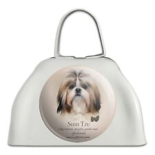 Shih Tzu Dog Breed White Metal Cowbell Cow Bell Instrument