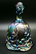 """Fenton Bell Lily Of The Valley Carnival Glass Amethyst / Purple Iridescent 5""""1/2"""
