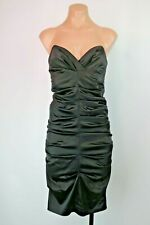 Nicole Miller Collection Ruched Fitted Sexy Black LBD Dress Cocktail Party Sz 4