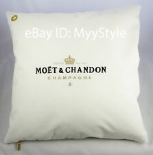 MOET CHANDON ICE IMPERIAL CHAMPAGNE OUTDOOR CUSHION COVER WHITE- GOLD (SET OF 4)