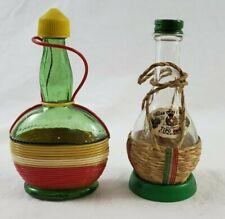 Vintage Italian Swiss Colony Fiasco Glass Salt and Pepper Shakers