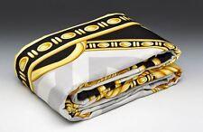 VERSACE La Coupe Dieux King Size Bed Duvet Cover + Sheet Set 4 pcs Grey