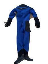 Blue Pinnacle 200 Diving concepts dry suit32421, 9/42-Bag /Dry hood Flex+ valve