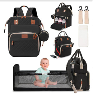 3 in 1 Foldbale Diaper Bag Baby Bed Portable Bassinet Crib Backpack Travel/Sleep