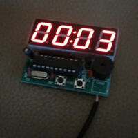 AT89C2051 Electronic 4 Digital Clock Display Module Components DIY Kit 9V-12V