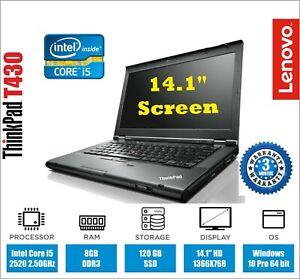 Lenovo Thinkpad T430 Laptop Intel Core i5 @2.50GHz 8GB 120GB SSD Win10 WEBCAM