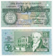 States of Guernsey £1 Pound (Low serial numbers) BYB ref: GU36a - UNC.