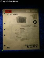 Sony Service Manual WM 3060 Cassette Player (#2102)
