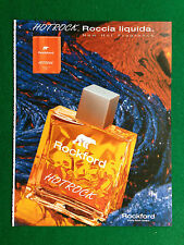 PX47 Pubblicità Advertising Werbung Clipping 28x21 cm - ROCKFORD HOTROCK PROFUMO