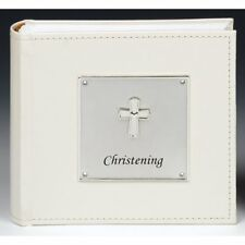 Christening Photo Album with Cross motif Holds 100 Photos Gift Idea NEW