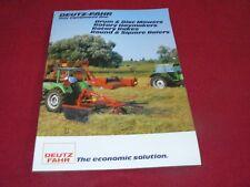 Deutz Fahr Hay Equipment Dealer's Brochure 91 458 12