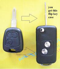 Flip key Button Remote Key Blank Shell  for Citroen Remote Key C3 C2