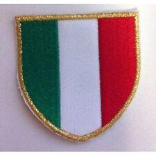 [Patch] 3 PZ SCUDETTO ITALIA bordo sottile cm 5 x 5 toppa ricamata ricamo -382