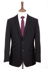 Mens Black Tailored Fit Suit By Young's Hire