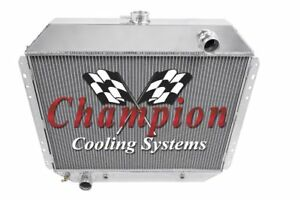 1968-1972 Ford F Series Truck All Aluminum Champion Cooling 4 Core Radiator