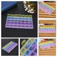28 Slots Compartments Weekly Pills Box 7 Days Medicine Organizer Container Case