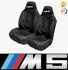 BMW M5 logo Sports Bucket Seat Covers / Protectors x2 - Motorsport Racing