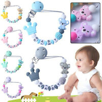Baby Pacifier Clips Koala Pacifier Chain Holder for Baby Teething Chew Toy