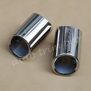 Tail Muffler Exhaust Rear Pipe Tip For BMW 5 Series 528i 530i 535d 535i F10 F18