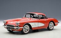 71148 AUTOart 1:18 Chevrolet Corvette 1958 (Red) model cars