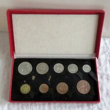 More details for 1950 9 coin proof year set in original red box