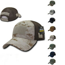 1 Dozen Mesh Constructed Military Tactical Hats Caps With Front Patch Wholesale