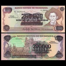 Nicaragua 200000 200,000 Cordobas On 1000, ND(1990), P-162, UNC