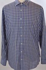 Charles Tyrwhitt Slim Fit XL Weekend Blue Plaid Check Long Sleeve Dress Shirt