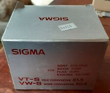 Sigma 55mm Wide Angle / Tele Converter for AF Video Camera VT-S X1.5 VW-S X0.5