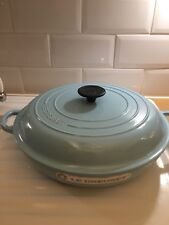LE CREUSET  CAST IRON,30cm SHALLOW CASSEROLE PAN ,BLUE,NEVER BEEN USED,NOT BOXED