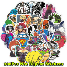 100 Mixed Skateboard Stickers bomb Vinyl Laptop Luggage Decals Dope Sticker Lot
